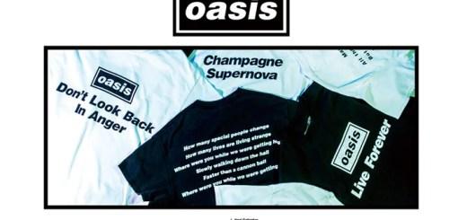 英国ロックバンド「oasis-オアシス」との別注TEEコレクション「oasis for ADAM ET ROPÉ / SONG LYRICS T-Shirt COLLECTION」が5/29から発売 (アダム エ ロペ)