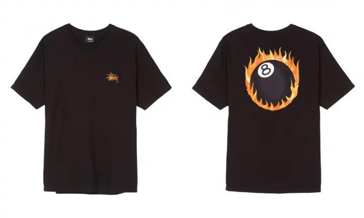 STUSSYから、定番モチーフであるエイトボールとベーシックロゴが炎に包まれたスクリーンプリントTEEが発売 (ステューシー)