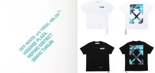 OFF-WHITE C/O VIRGIL ABLOH 天津限定TEEが発売!ブルーカラーのカモフラパターンを採用 (オフホワイト Tianjin)