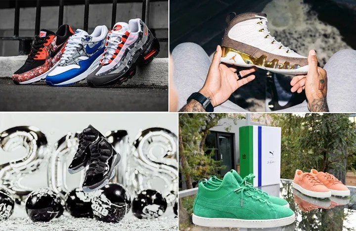 "【まとめ】5/26発売の厳選スニーカー!(NIKE AIR MAX 1/90/95 ATMOS ""WE LOVE NIKE"")(AIR JORDAN 11 RETRO ""CAP AND GOWN"")(AIR JORDAN 9 MELO ""MOP"")(PUMA SUEDE 50th × BIG SEAN)他"