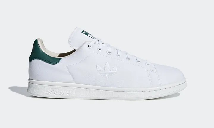 """6/1発売!アッパーにキャンバス素材を使用したadidas Originals STAN SMITH """"White/Collegiate Green"""" (アディダス オリジナルス スタンスミス """"ホワイト/カレッジ グリーン"""") [D96737]"""