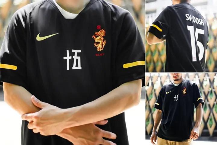 """6/9発売!NIKE × CLOT NRG Soccer Jersey """"Black/Touor Yellow"""" (ナイキ クロット サッカー ジャージ """"ブラック/ツアー イエロー"""") [AV4992-010]"""