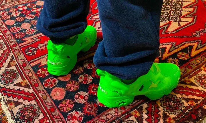 """ニューカラーが6月登場!VETEMENTS 2019 F/W × REEBOK INSTA PUMP FURY """"Green"""" (ヴェトモン リーボック インスタ ポンプ フューリー """"グリーン"""")"""