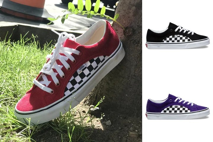 "VANS CHECKER CORD LAMPIN ""Black/Helitrope Purple/Scooter Red"" (バンズ チェッカー コード ランピン)"