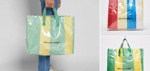 """ピクニックシートを模倣したCOMME des GARCONS SHIRT """"PVC PICNIC SHEET TOTE BAG"""" (コム デ ギャルソン・シャツ PVC ピクニック シート トート バッグ)"""