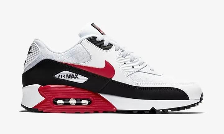 """【オフィシャルイメージ】ナイキ エア マックス 90 """"ホワイト/レッド/ブラック"""" (NIKE AIR MAX 90 """"White/Red/Black"""") [BV2522-100]"""