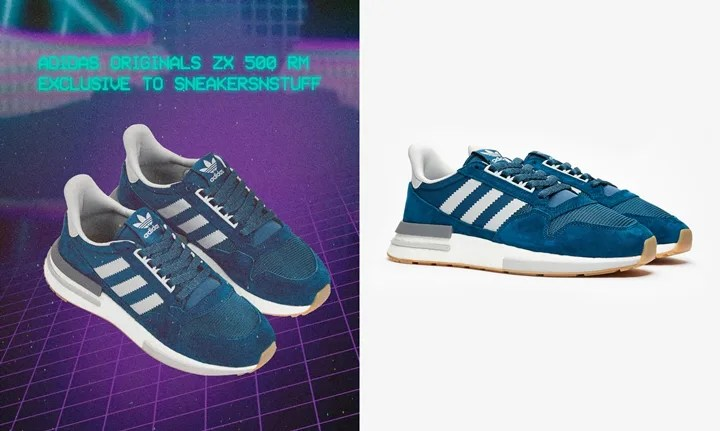 "half off 50cd6 a61b5 sneakersnstuff 限定 1015発売!adidas Originals ZX500 RM ""Blue Night"" (アディダス  オリジナルス ZX500 RM ""ブルー ナイト"") F36882"