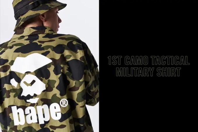 A BATHING APEから1ST CAMOで仕上げたミリタリーシャツ「1ST CAMO TACTICAL MILITARY SHIRT」が5/18発売 (ア ベイシング エイプ)