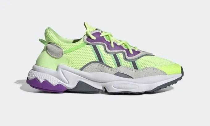 """アディダス オリジナルス オズウィーゴ """"イエロー/パープル/グレー"""" (adidas Originals OZWEEGO """"Yellow/Purple/Grey"""") [EE5720]"""