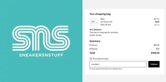 「Sneakersnstuff」にて8/31まで 10% OFFクーポンが配布 (スニーカーズ・アン・スタッフ)