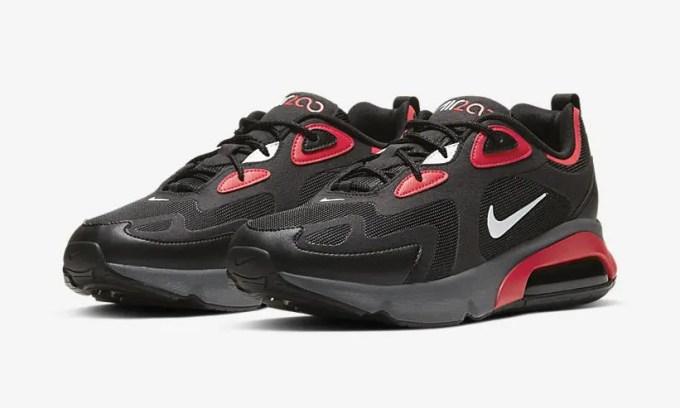 """ナイキ エア マックス 200 """"ブラック"""" 2カラー (NIKE AIR MAX 200 """"Black"""" """"Black/Red"""") [CI3865-001,002]"""