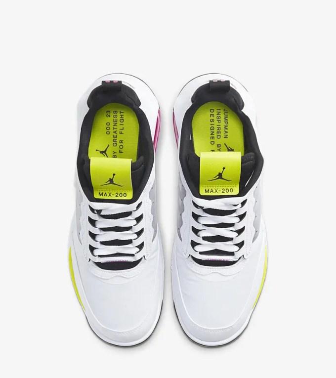 """ナイキ ジョーダン マックス 200 """"ホワイト/ブライトイエロー"""" (NIKE JORDAN MAX 200 """"White/Bright Yellow"""") [CD6105-102]"""