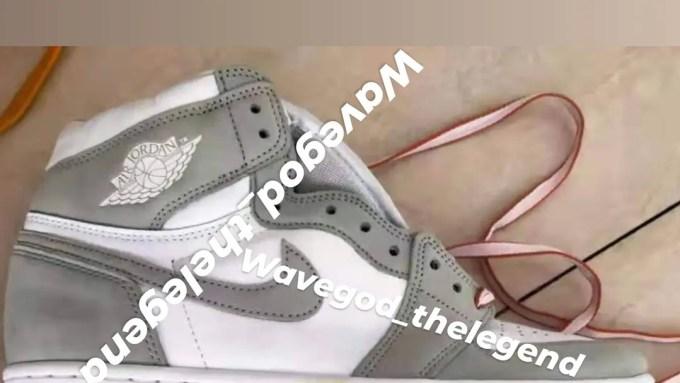 """【2021年モデル】ナイキ エア ジョーダン 1 レトロ ハイ """"ホワイト/グレー/ピンク"""" (NIKE AIR JORDAN 1 RETRO HIGH """"White/Grey/Pink"""")"""