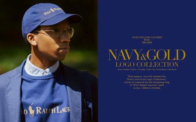 BEAMS × POLO RALPH LAUREN コラボ 第5弾「Navy and Gold Logo Collection」が4/23 発売 (ビームス ポロ ラルフローレン)