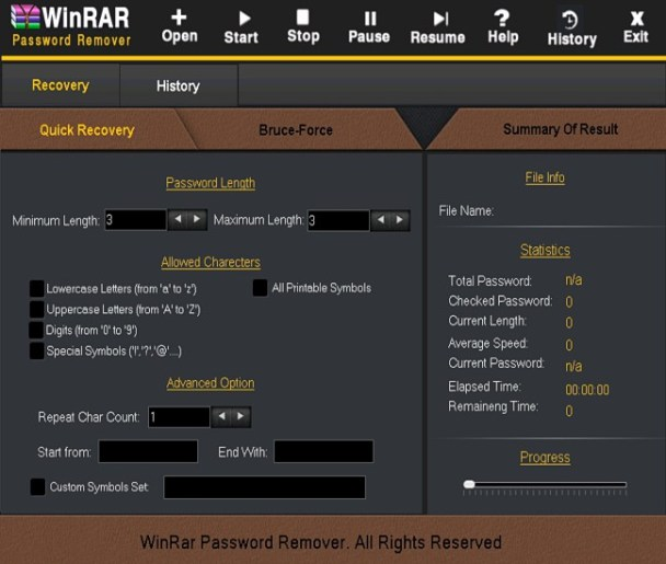 WinRAR Password Remover latest version