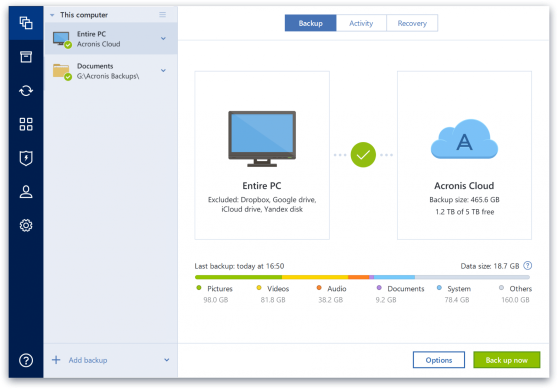 Acronis True Image windows