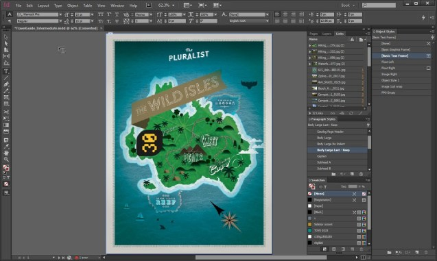 Adobe InDesign CC windows