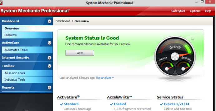 System Mechanic Pro windows