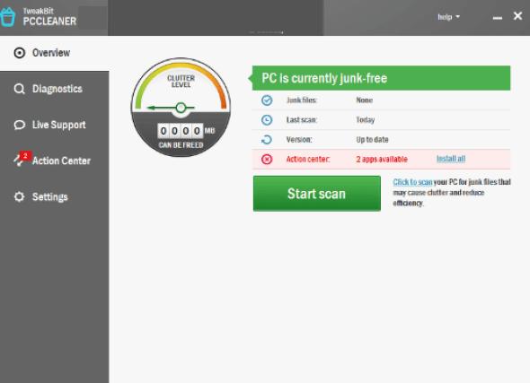 TweakBit PCCleaner windows