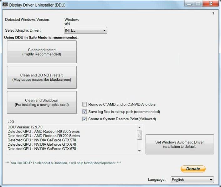 Display Driver Uninstaller latest version