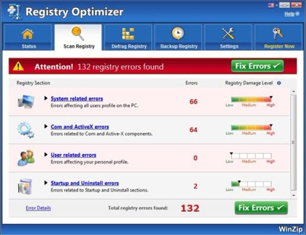 WinZip Registry Optimizer latest version