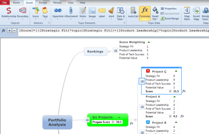 Mindjet MindManager windows