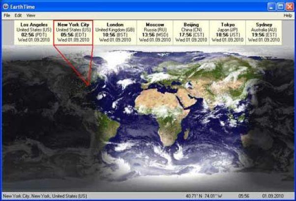 DeskSoft EarthTime windows