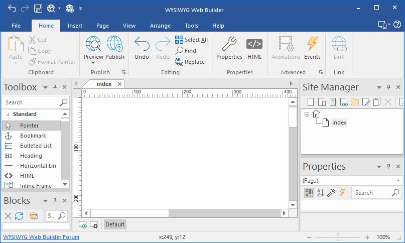 WYSIWYG Web Builder latest version