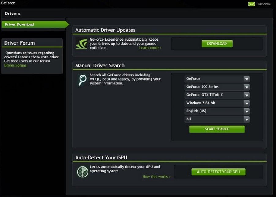 Nvidia GeForce Graphics Driver windows