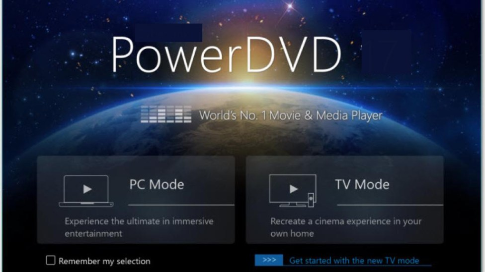 PowerDVD windows