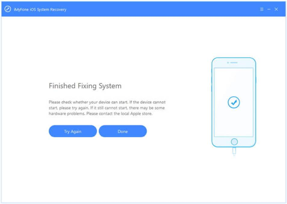 iMyFone iOS System Recovery windows