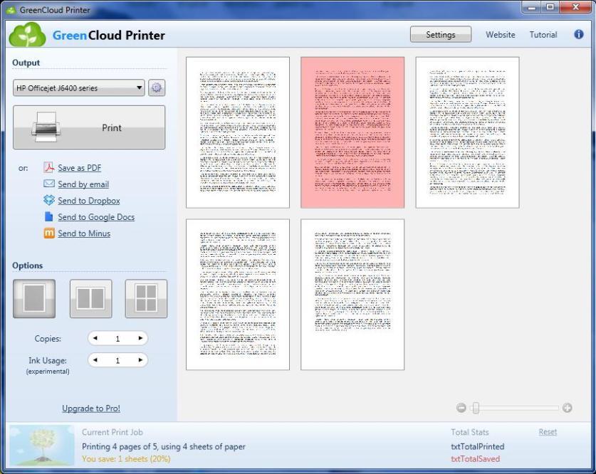GreenCloud Printer Pro latest version