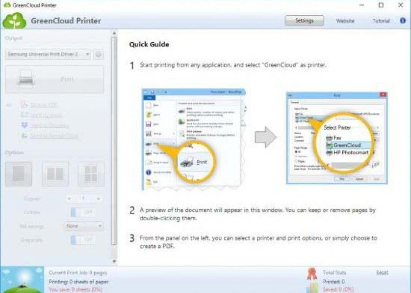 GreenCloud Printer Pro windows