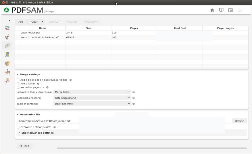 PDFSam Basic windows