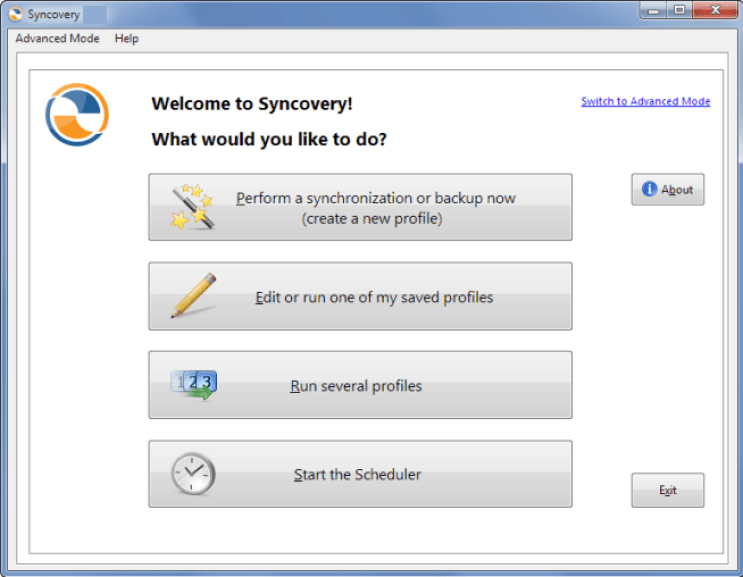Syncovery windows