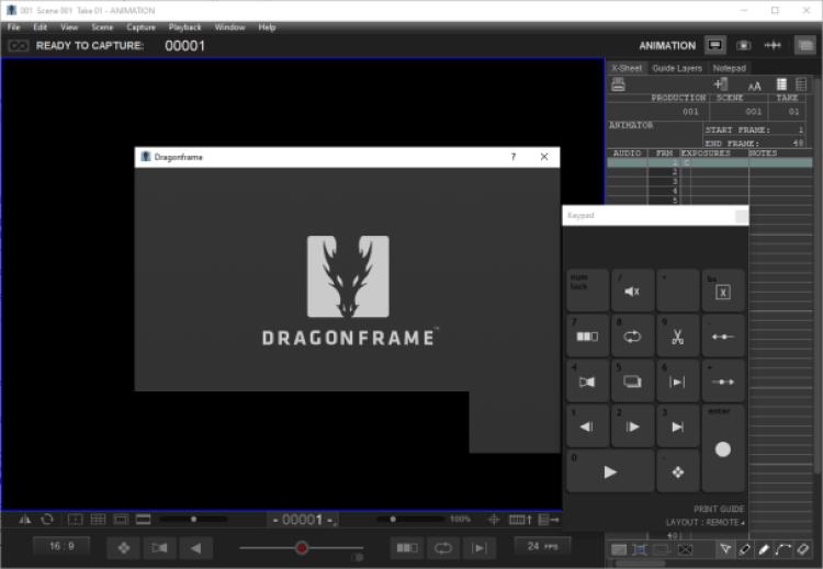Dragonframe windows