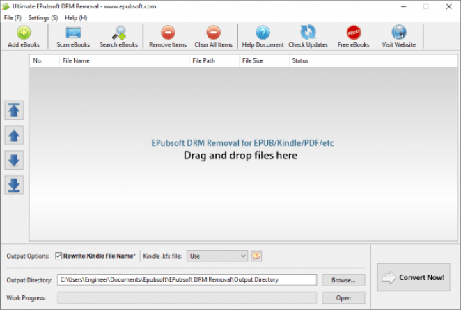 Epubsoft Ultimate DRM Removal windows