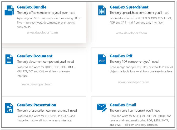 GemBox Bundle latest version