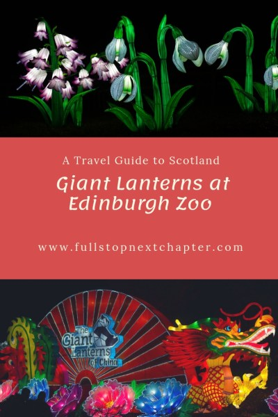 Pin for later - Giant Lanterns at Edinburgh Zoo