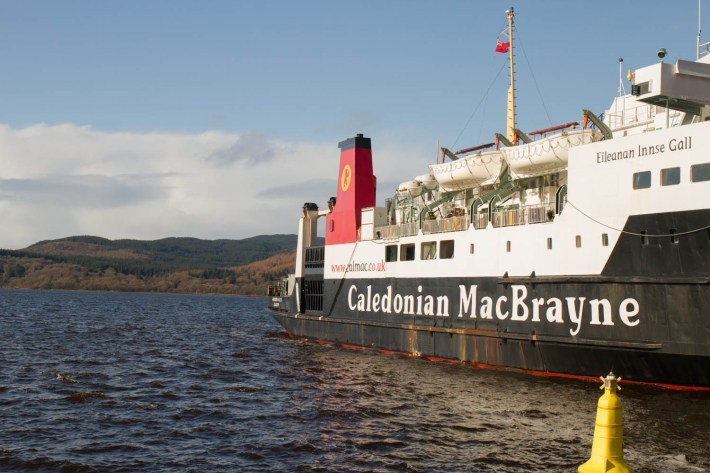 CalMac Ferry, Kennacraig, Argyll.
