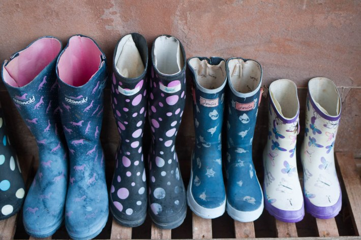 Wellington boots at Cringletie House