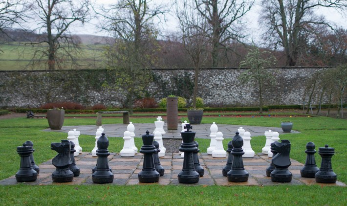 Chess game at Cringletie House