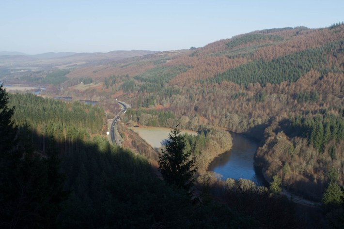 A view of the river Tay in Perthshire, Scotland.