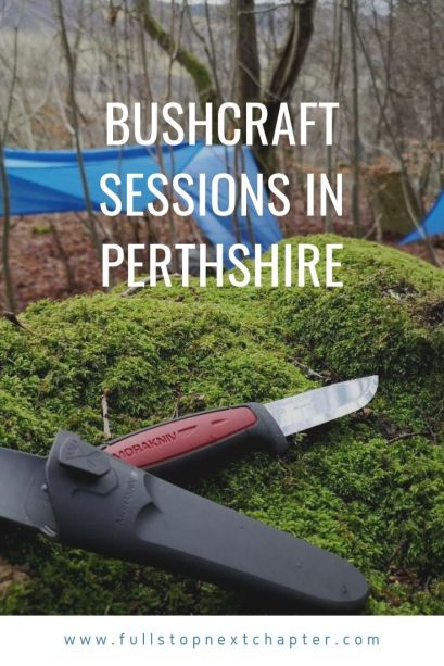 Pinterest graphic - Bushcraft skills in Perthshire