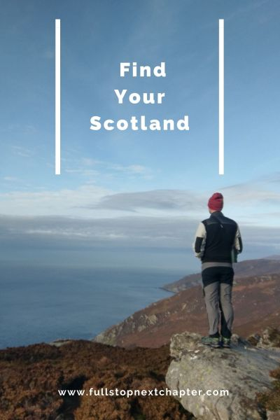 Pin for later: Find your Scotland. Photo of a man stood on a rock overlooking the coast