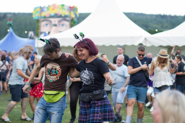 Dancing at Belladrum festival, Scotland