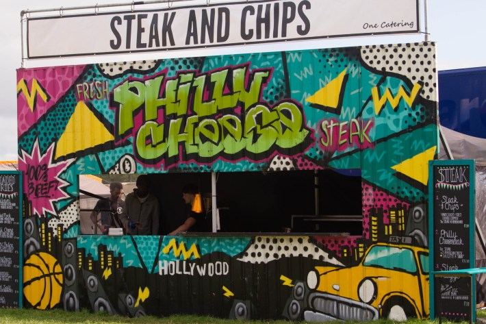 Food stall at Belladrum festival, Scotland