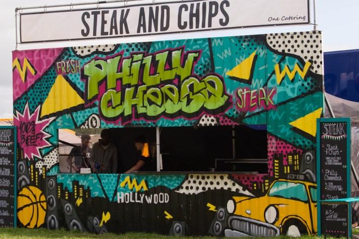 Food stall at Belladrum festival, Scotland