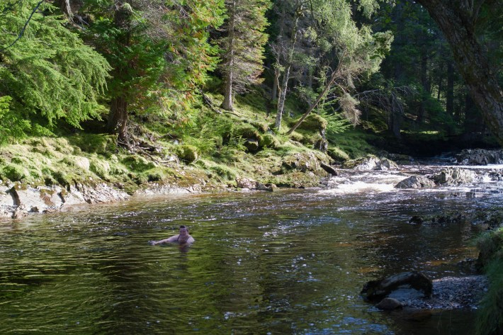 Cold water swimming in the Cairngorms
