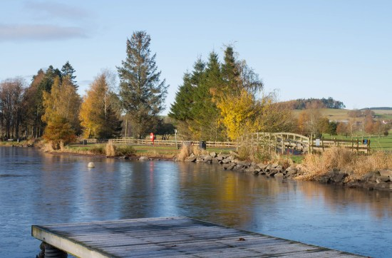 Duck pond at Biggar, Scotland